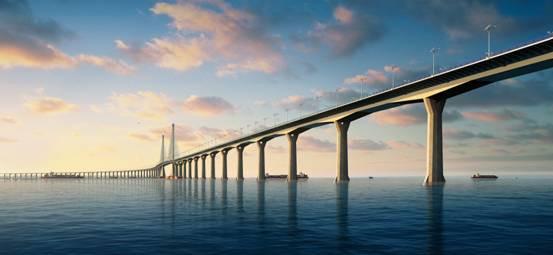 港珠澳大桥示意图-行业视点